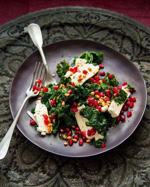 Ensalada caliente de kale