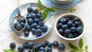 Recetas de postres con moras azules