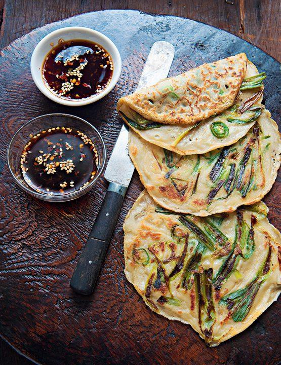 Pancakes coreanos