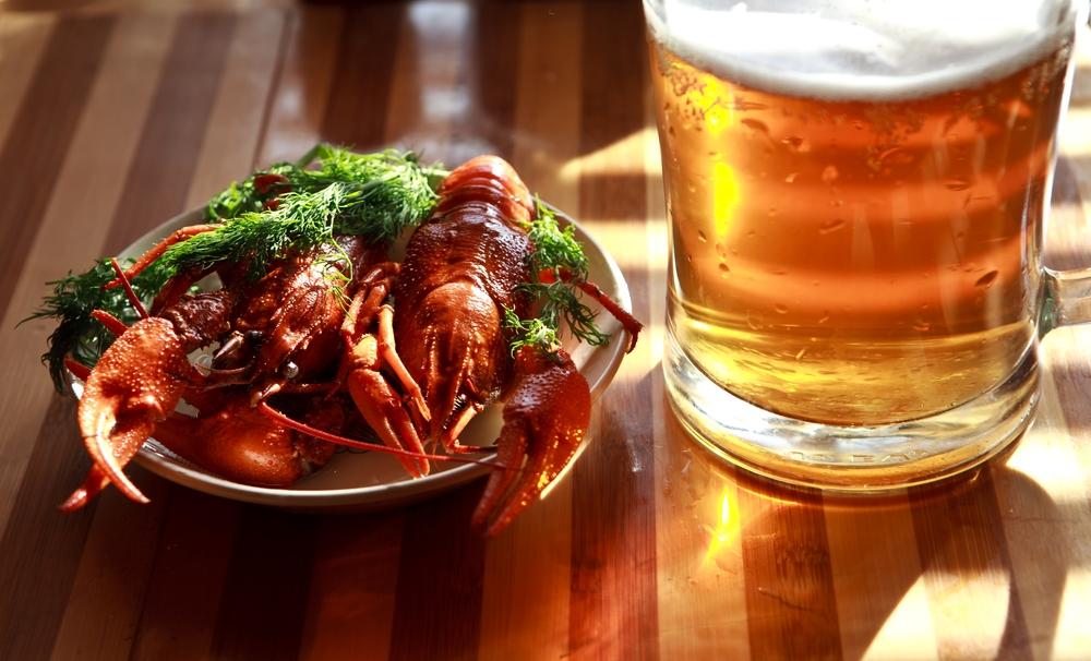 cerveza y mariscos