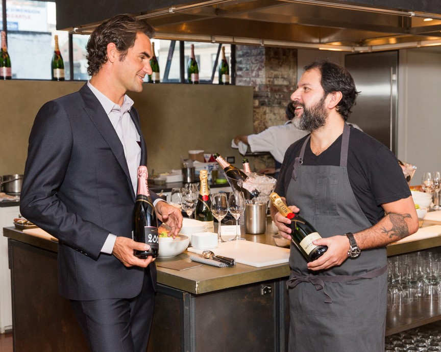 Roger Federer y Enrique Olvera