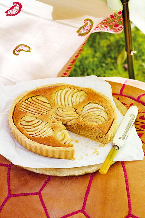 Tarta de pera con almendras