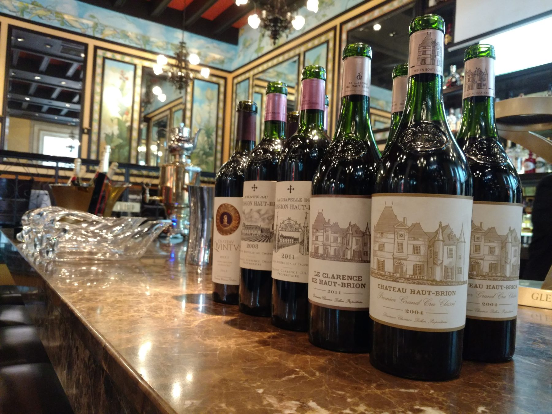 5 grandes Châteaux degustados en LIPP La Brasserie