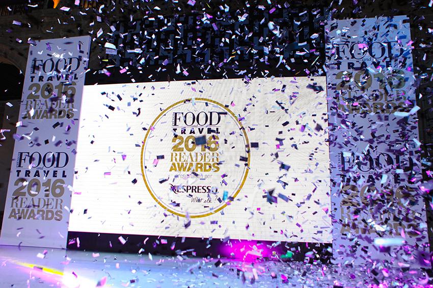 Lista de ganadores de Food and Travel Reader Awards 2016