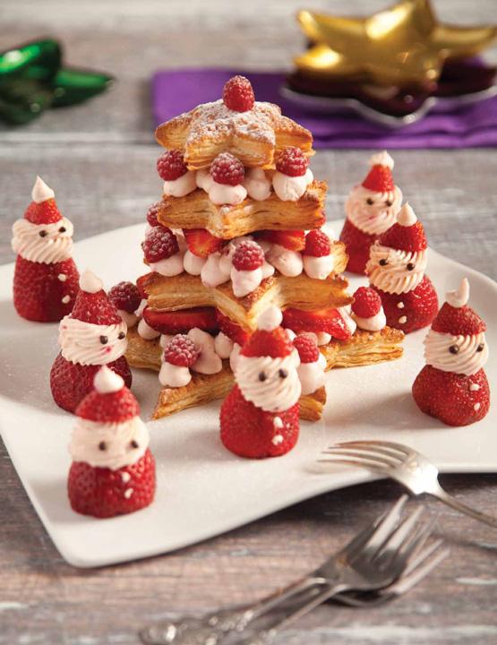 Milhojas navideño