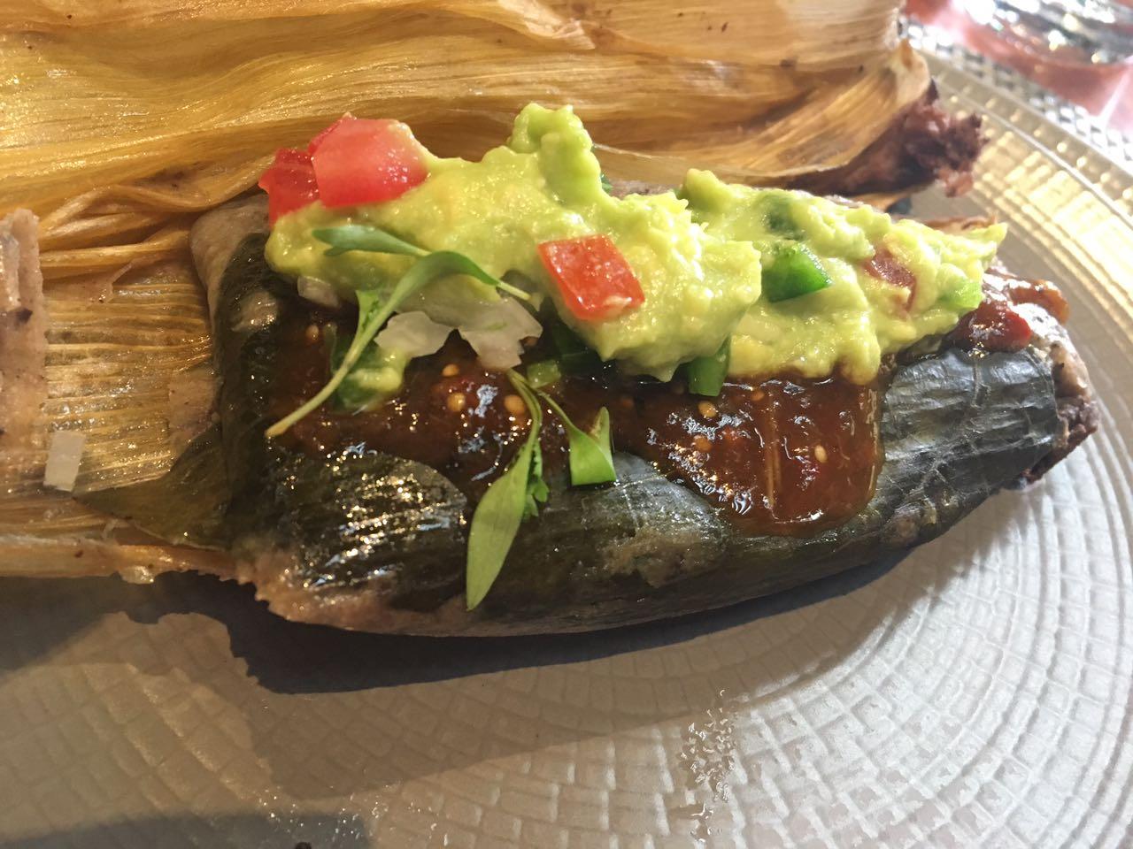 Menú de tamales en Restaurante Chapulín
