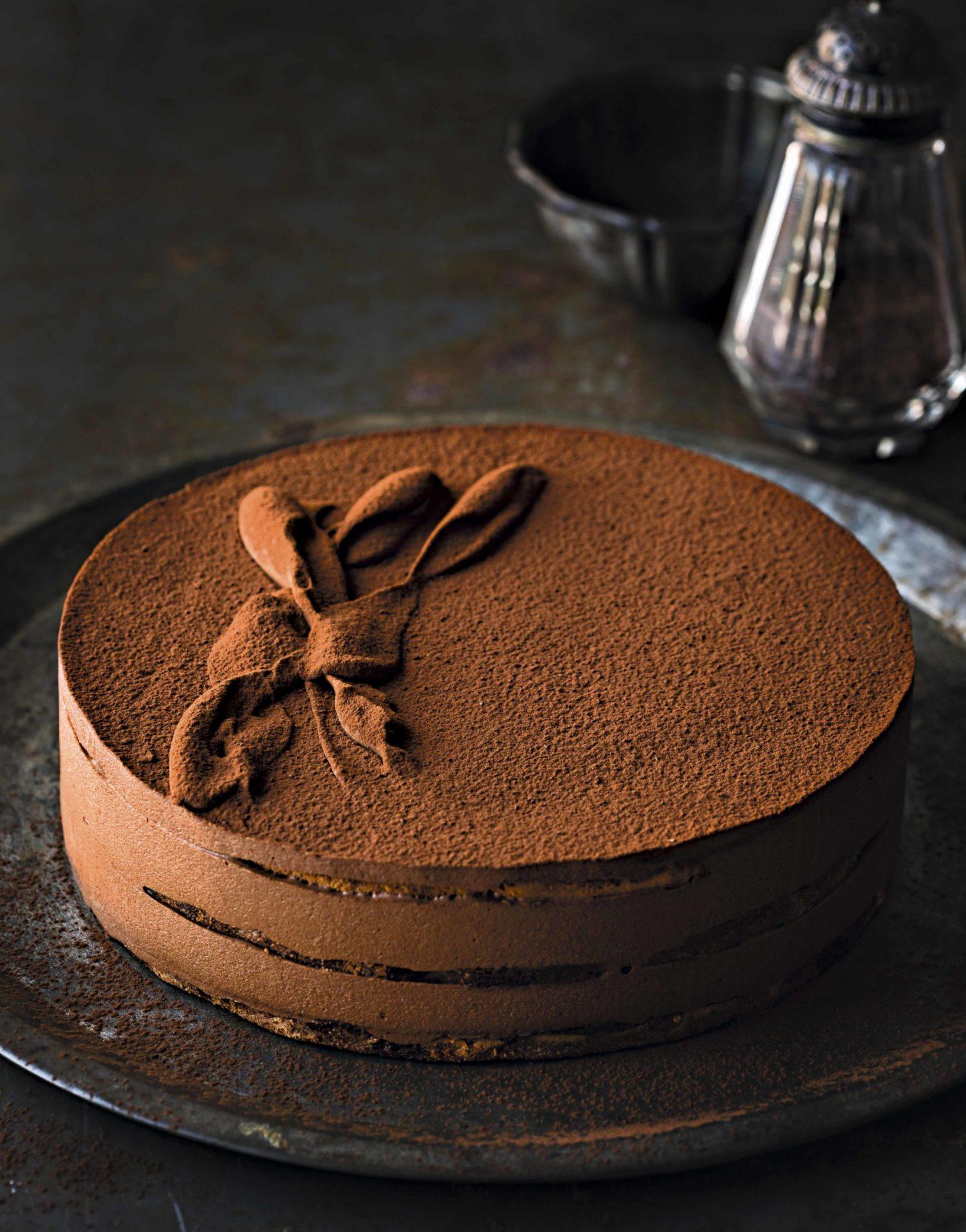 Pastel de trufa de chocolate, sin gluten
