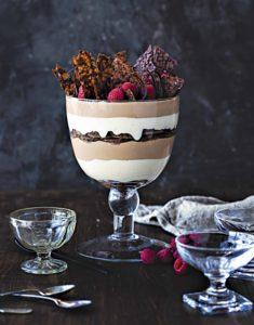 Trifle de chocolate, sin gluten