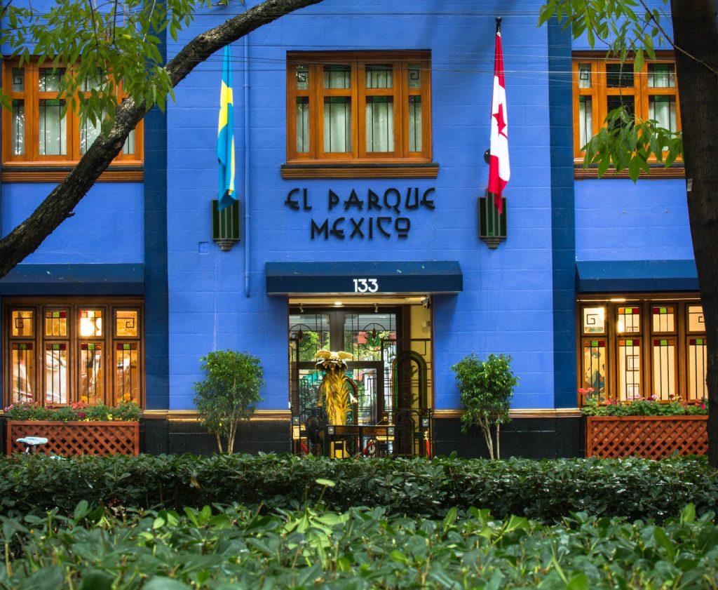 Un hotel en Parque México