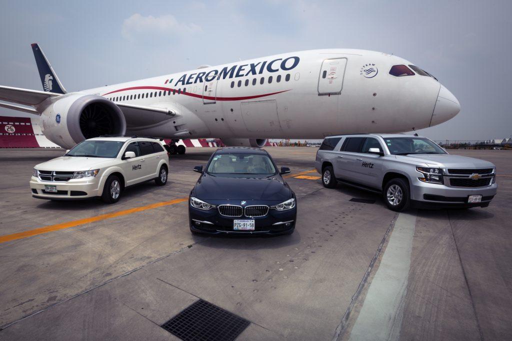 Aeroméxico y Hertz firman alianza comercial