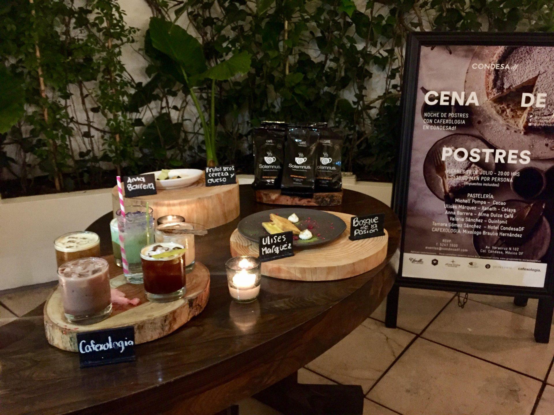 Cena de Postres en Hotel Condesa df