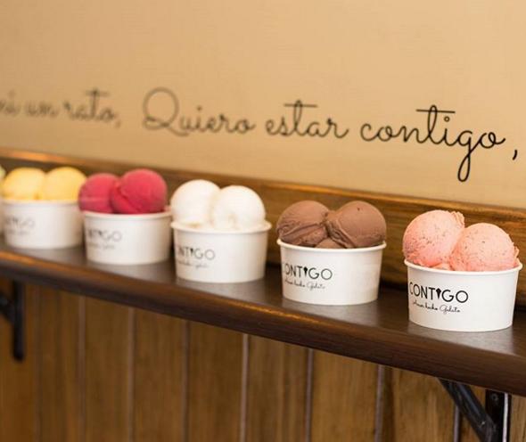 Contigo: gelato hecho con pasión