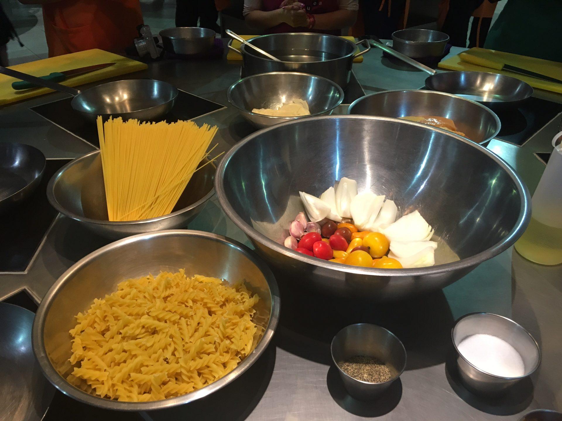 Clase de cocina con la Universidad Euroamérica y La Europea