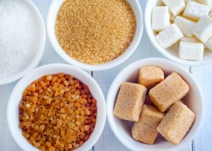 Tipos de azúcar y endulzantes