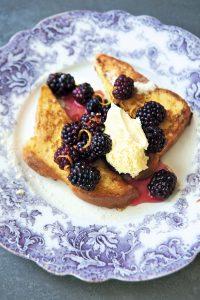 Pan francés de zarzamoras