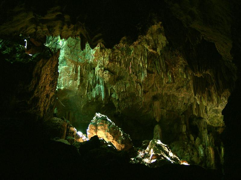 interior de la cueva de las sardinas ciegas