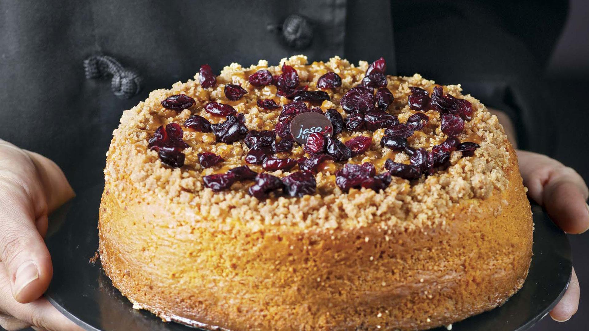 Cheesecake con cranberries