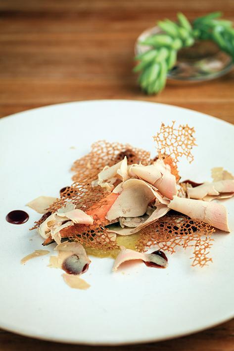 Foie gras con camote
