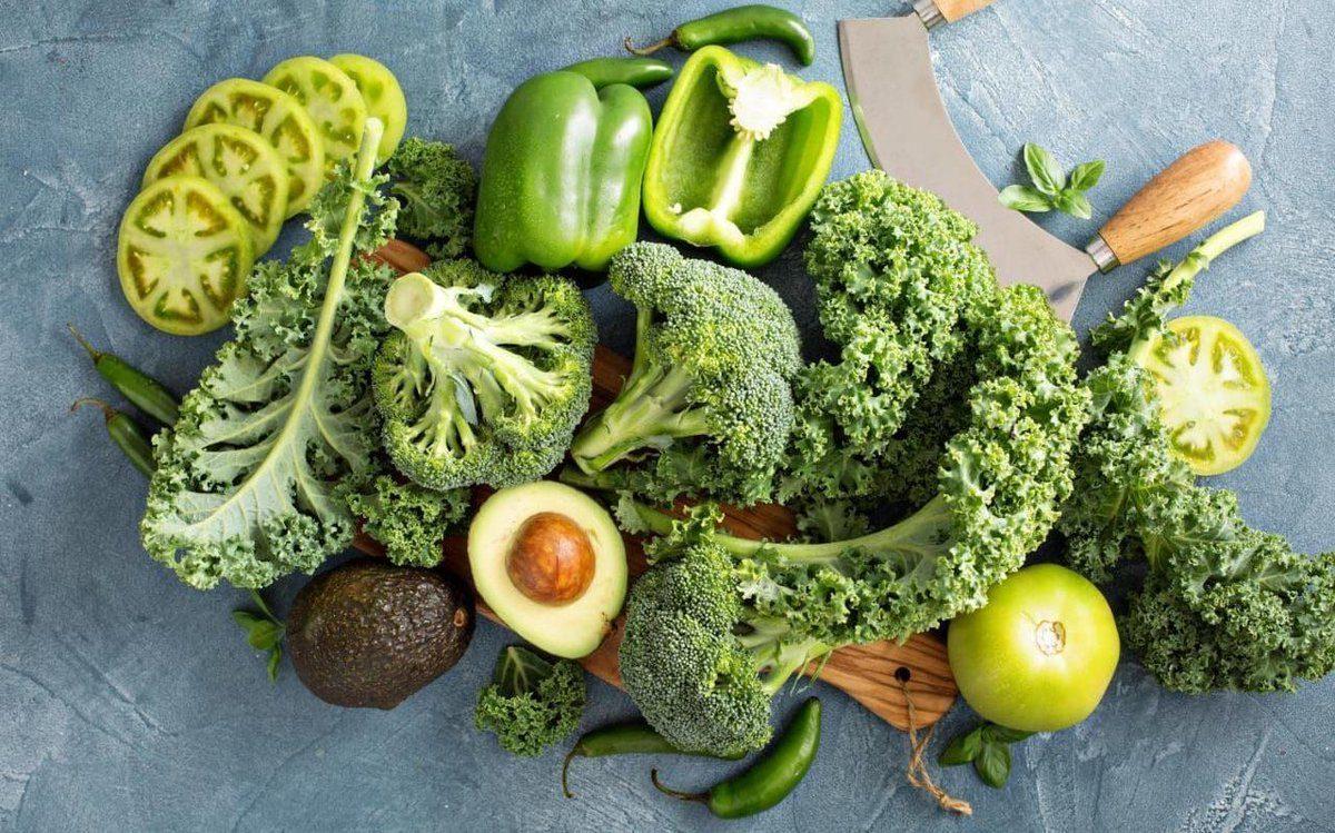 Los alimentos verdes más saludables