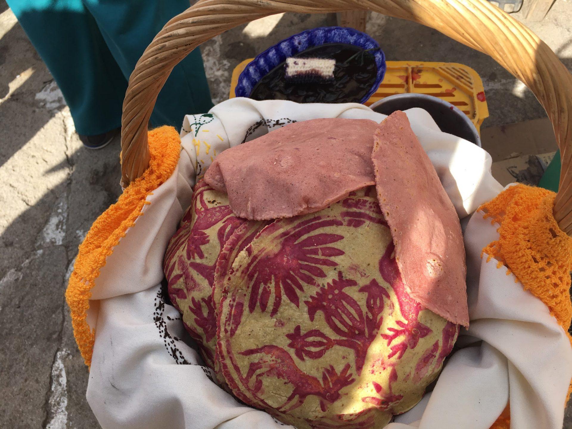 vista de las tortillas otomíes terminadas