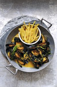 Mejillones vietnamitas al curry