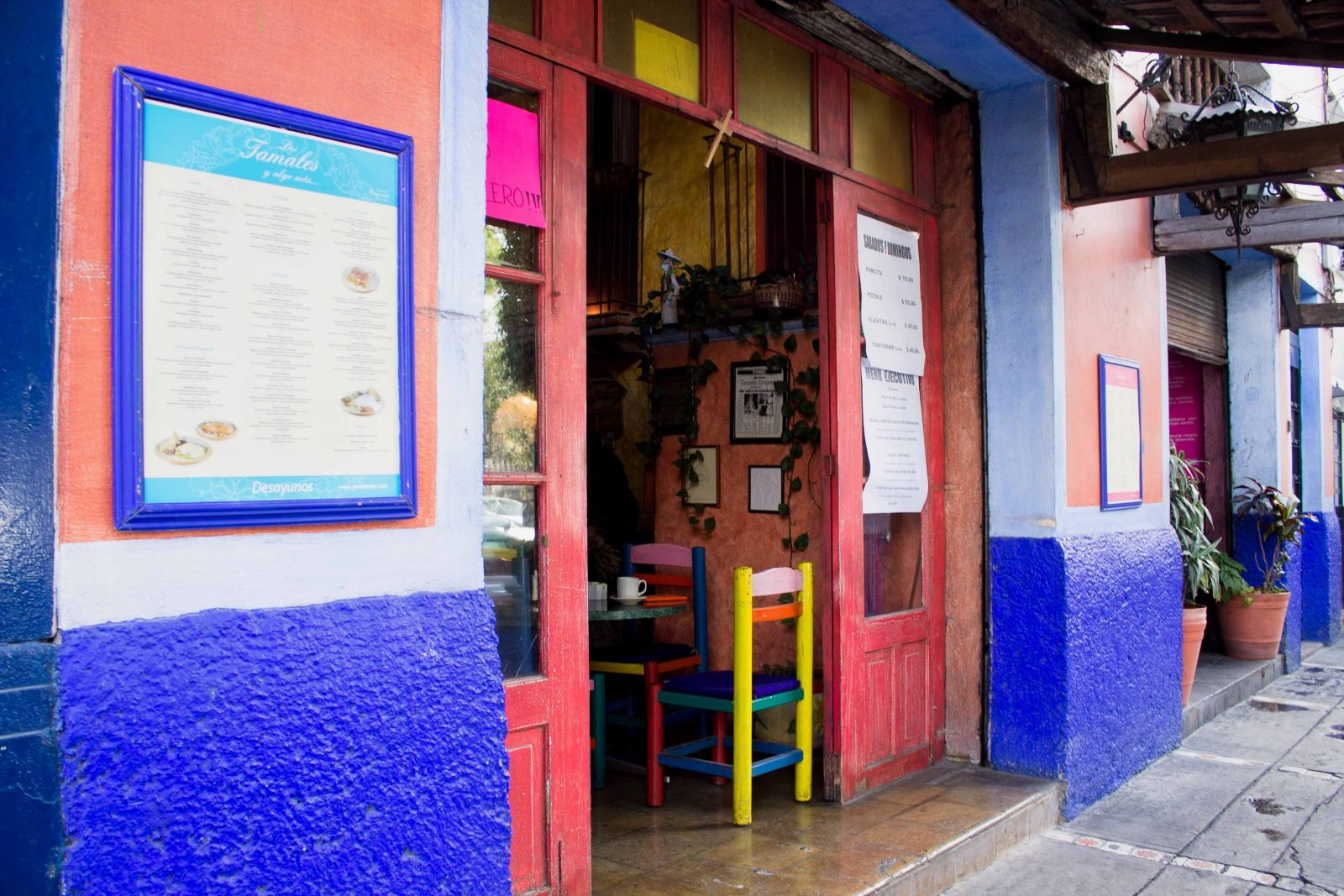 Tamalerías en la Ciudad de México