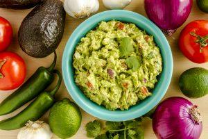 El verde del guacamole