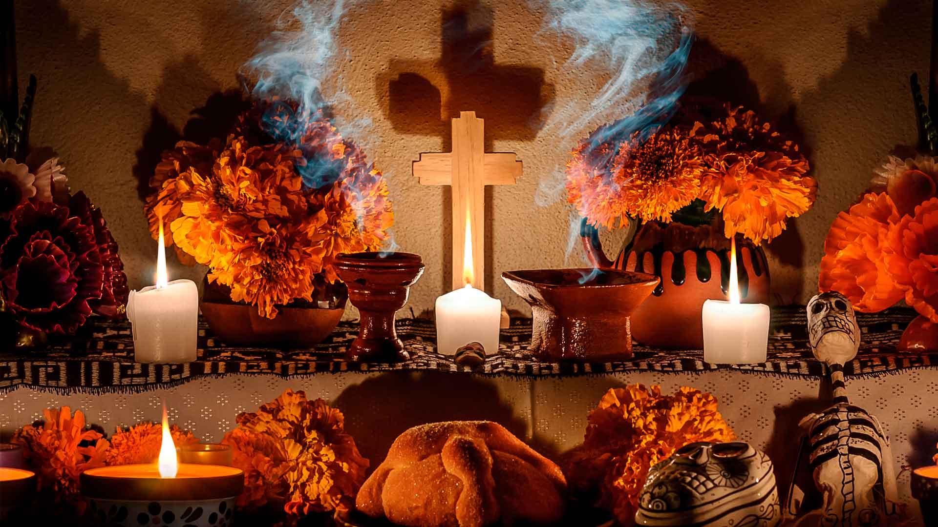 Elementos de la ofrenda en el Día de Muertos