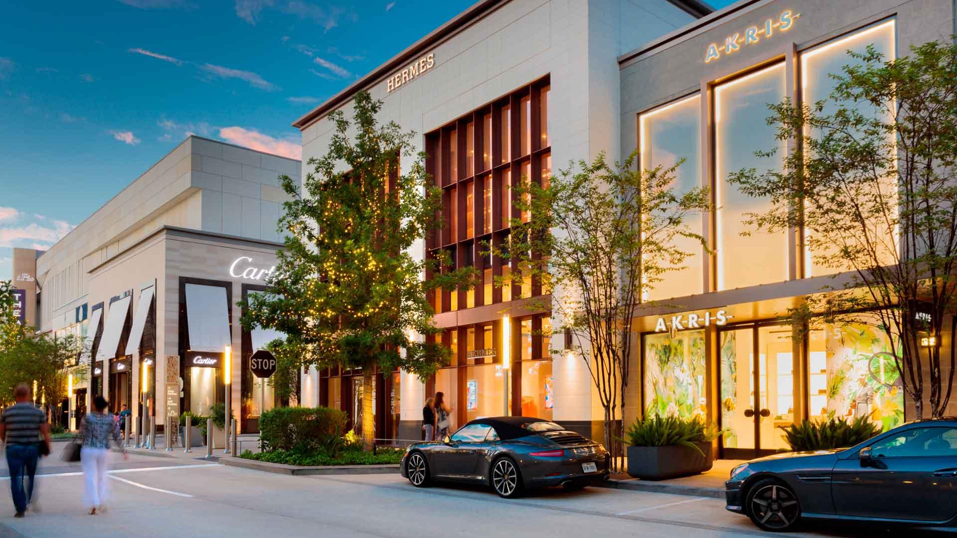 River Oaks District: lujo al aire libre