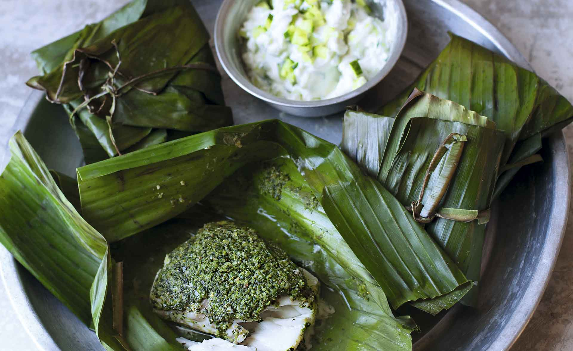 Bacalao horneado con costra de coco