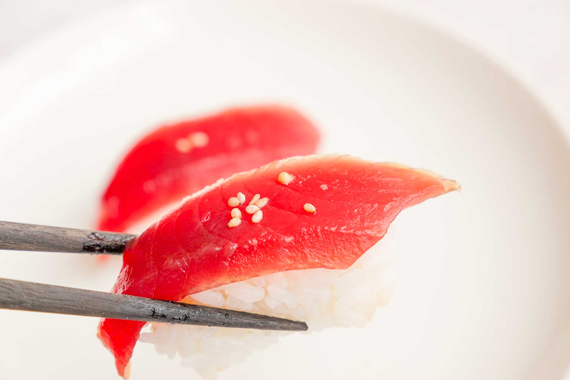 Sushi y té verde