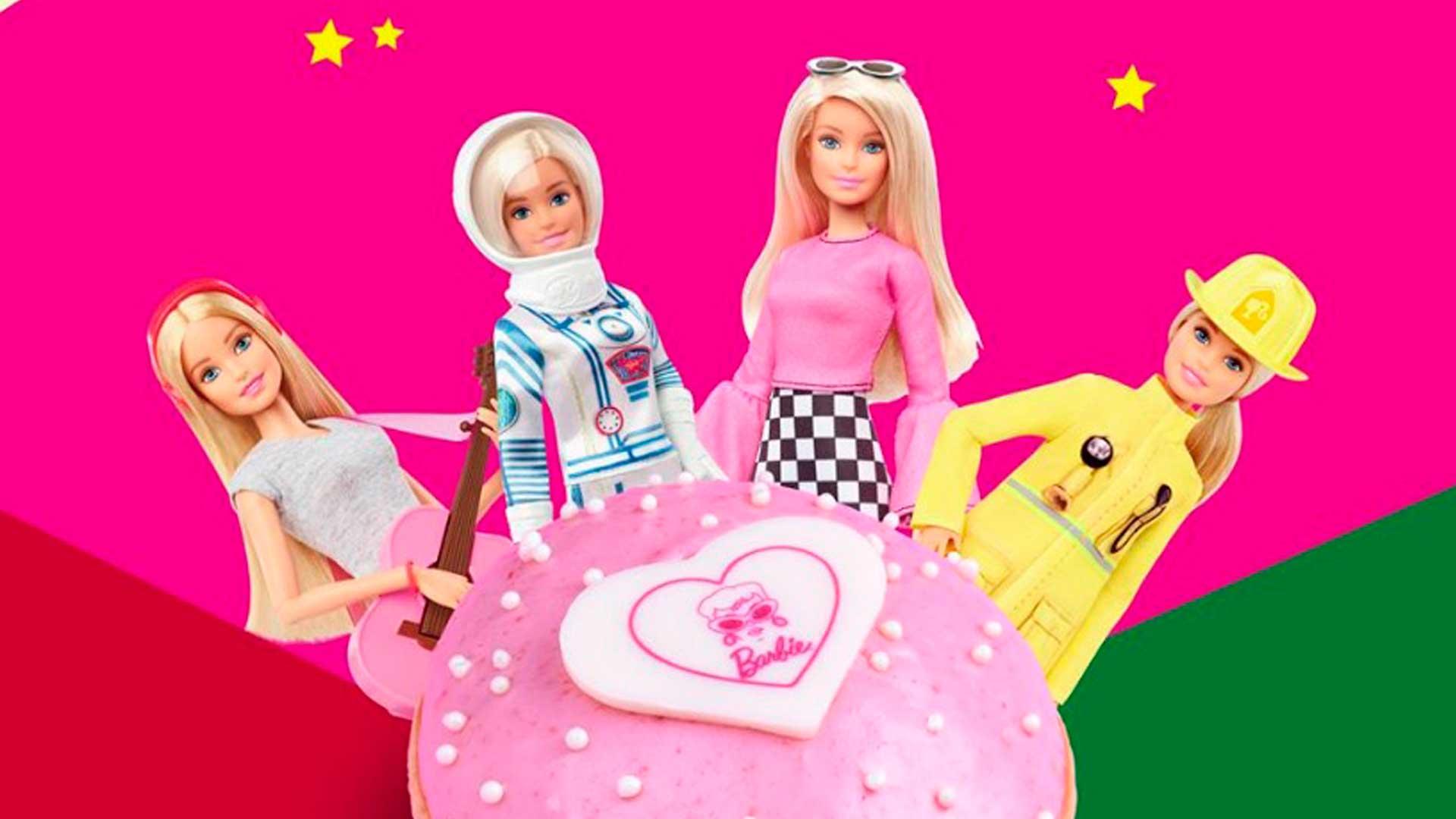 Prueba la dona inspirada en Barbie de Krispy Kreme