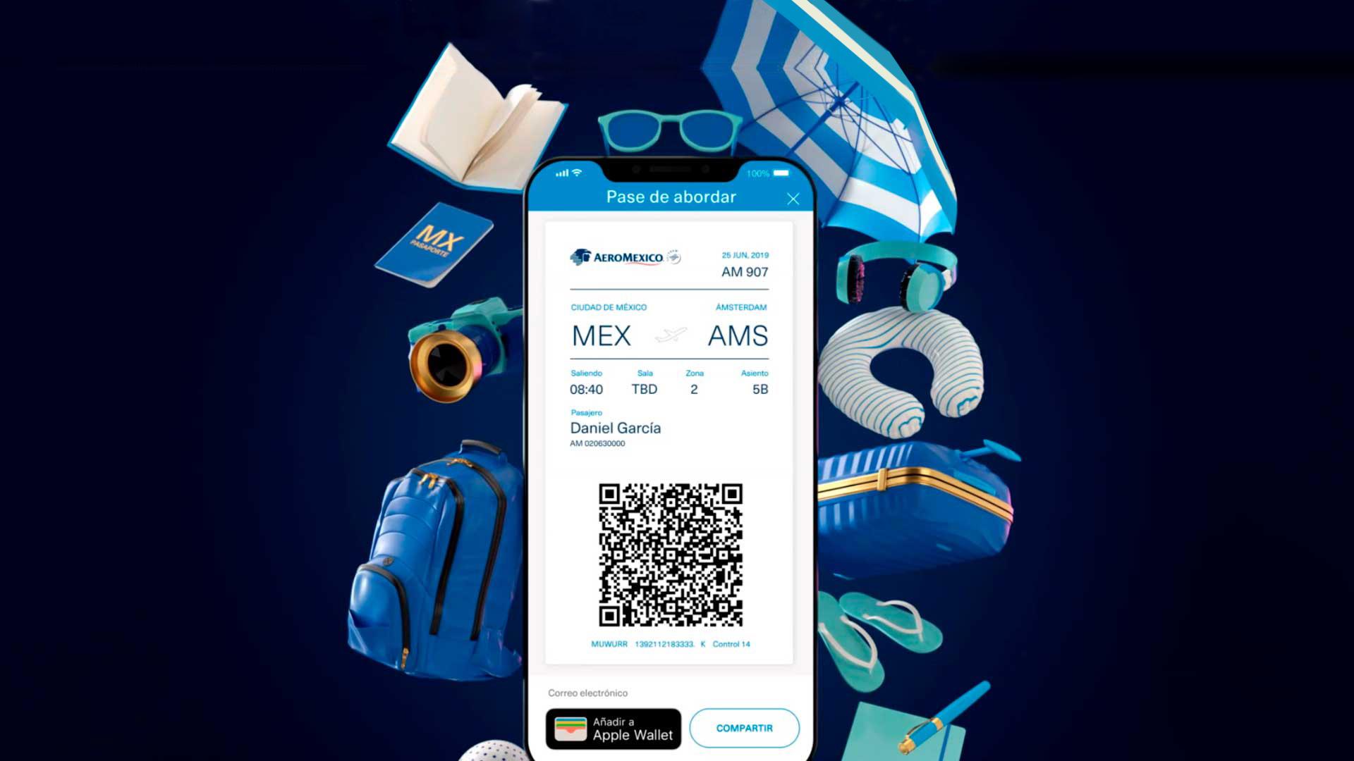 App móvil de Aeroméxico: tus vuelos al alcance de un clic