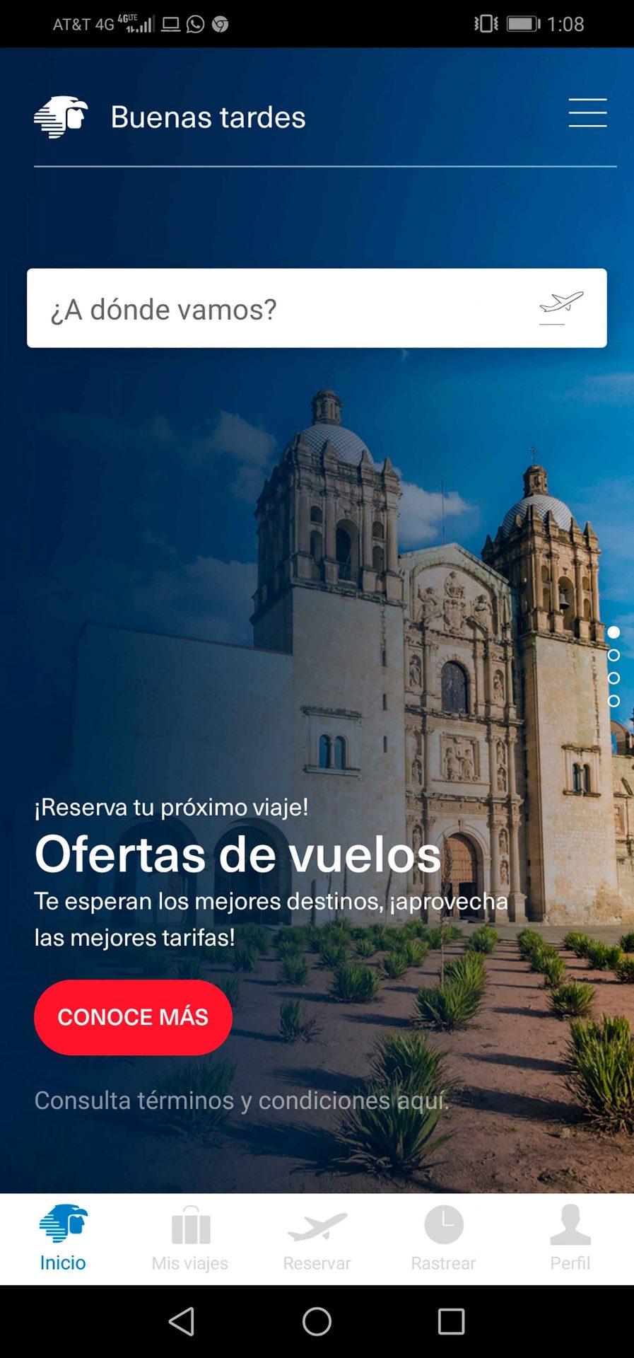App móvil Aeroméxico