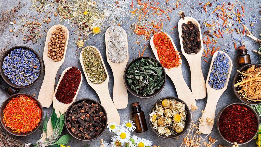 Tisanas herbales y frutales para cocinar