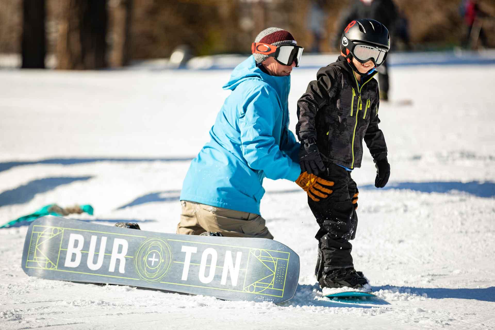 destinos de nieve niños