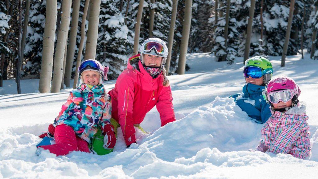 4 destinos de nieve para visitar con niños