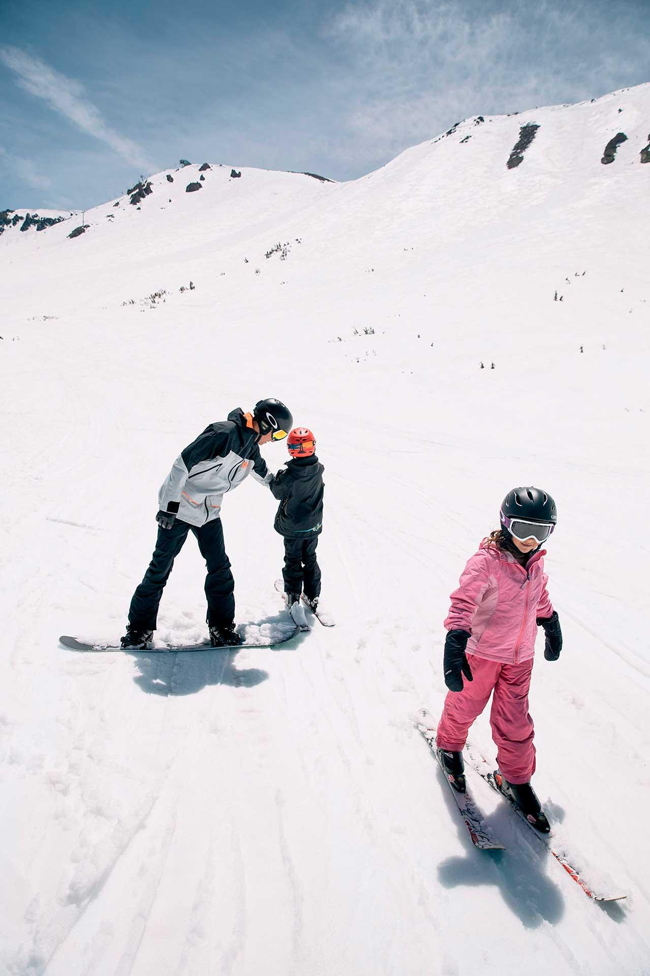 destinos nieve niños