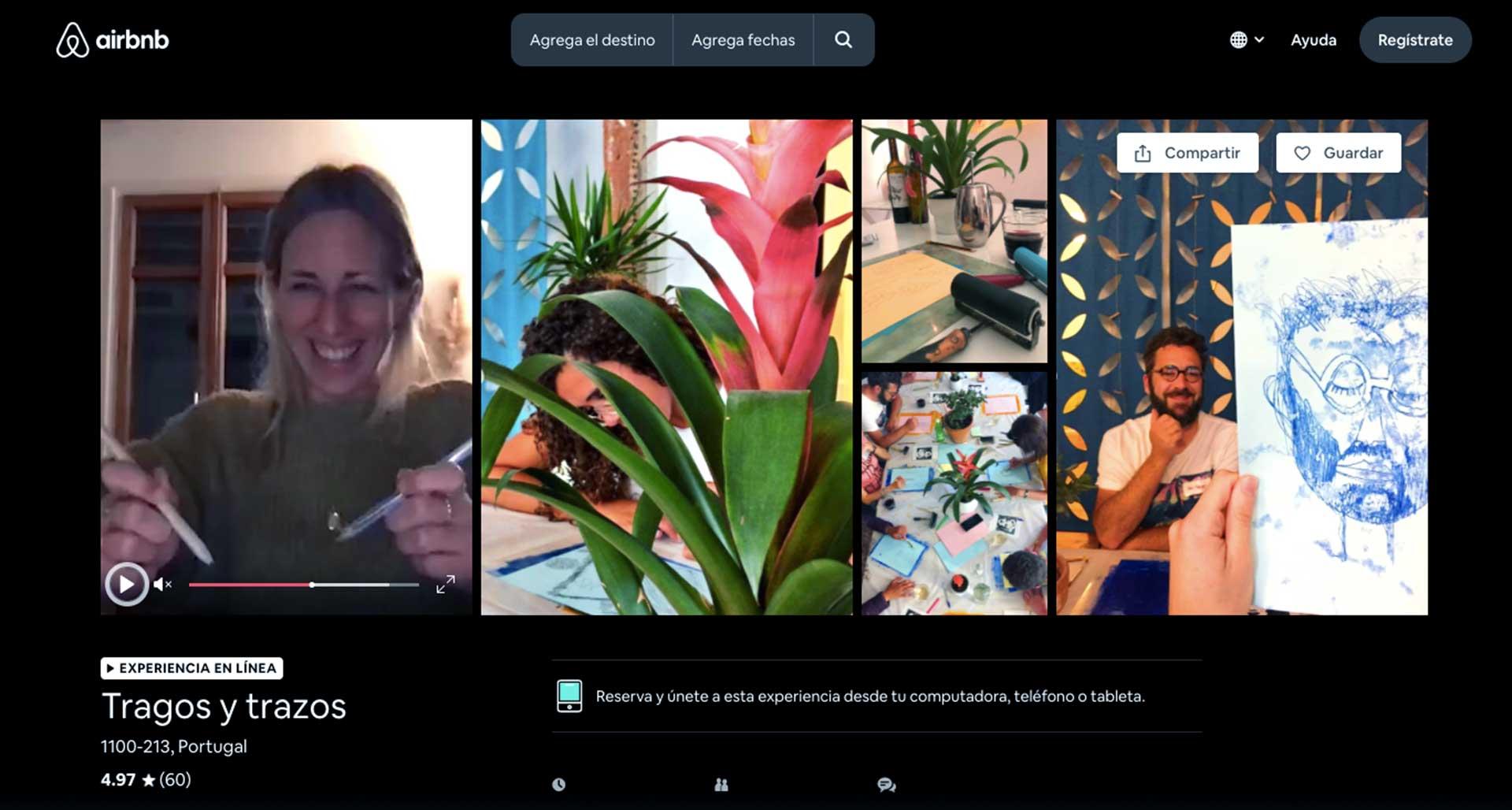 Clases digitales app Airbnb
