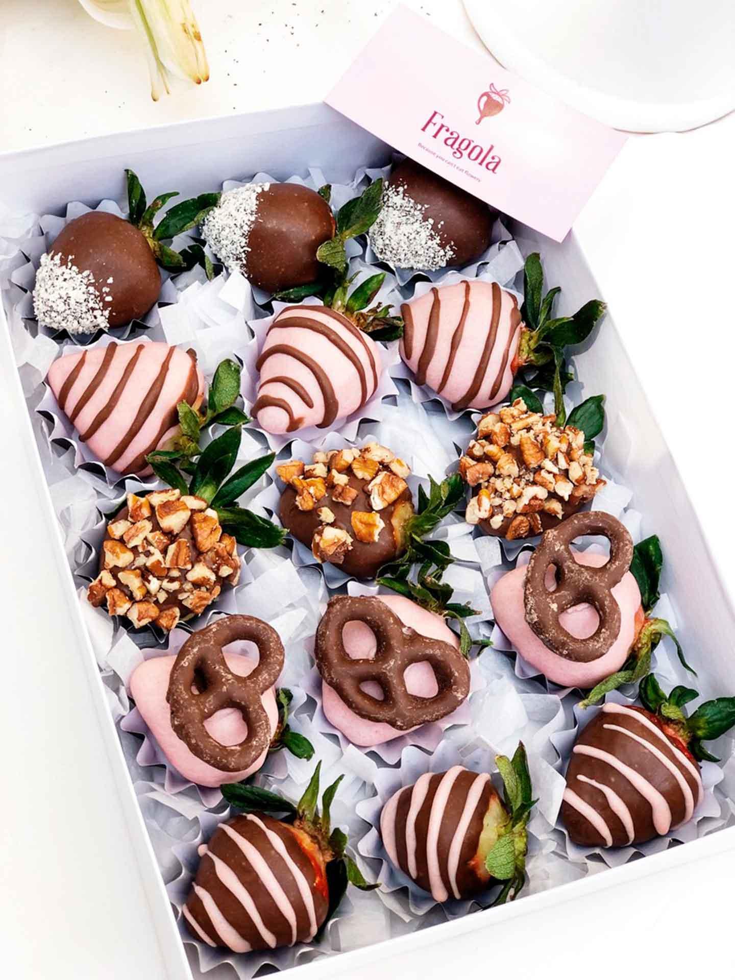 Artículos a domicilio fresas con chocolate