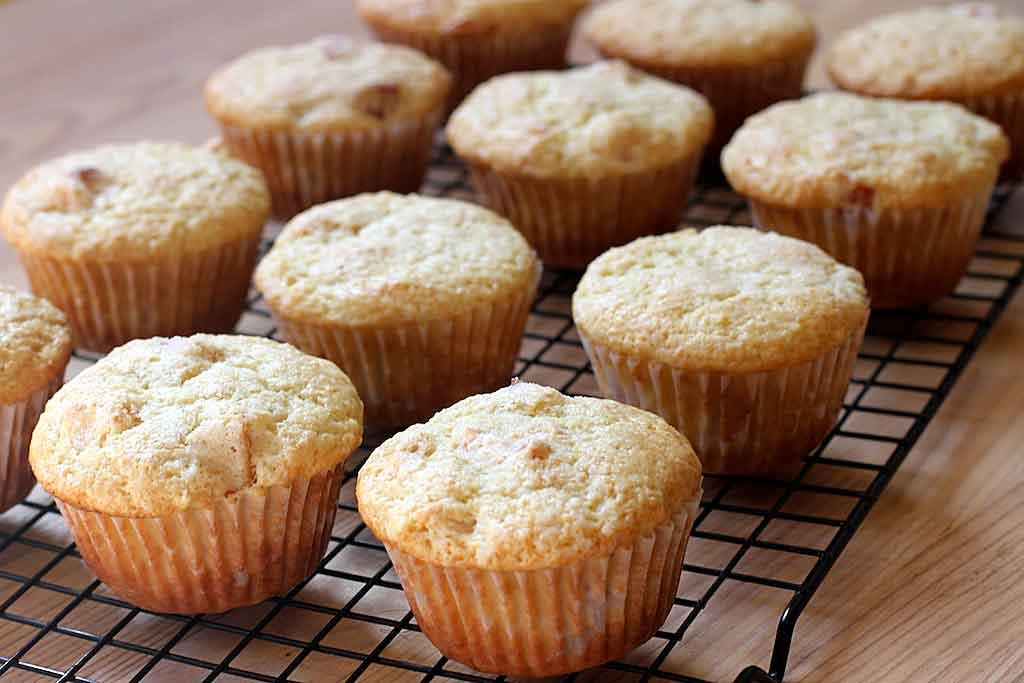 Postres con almendras muffins