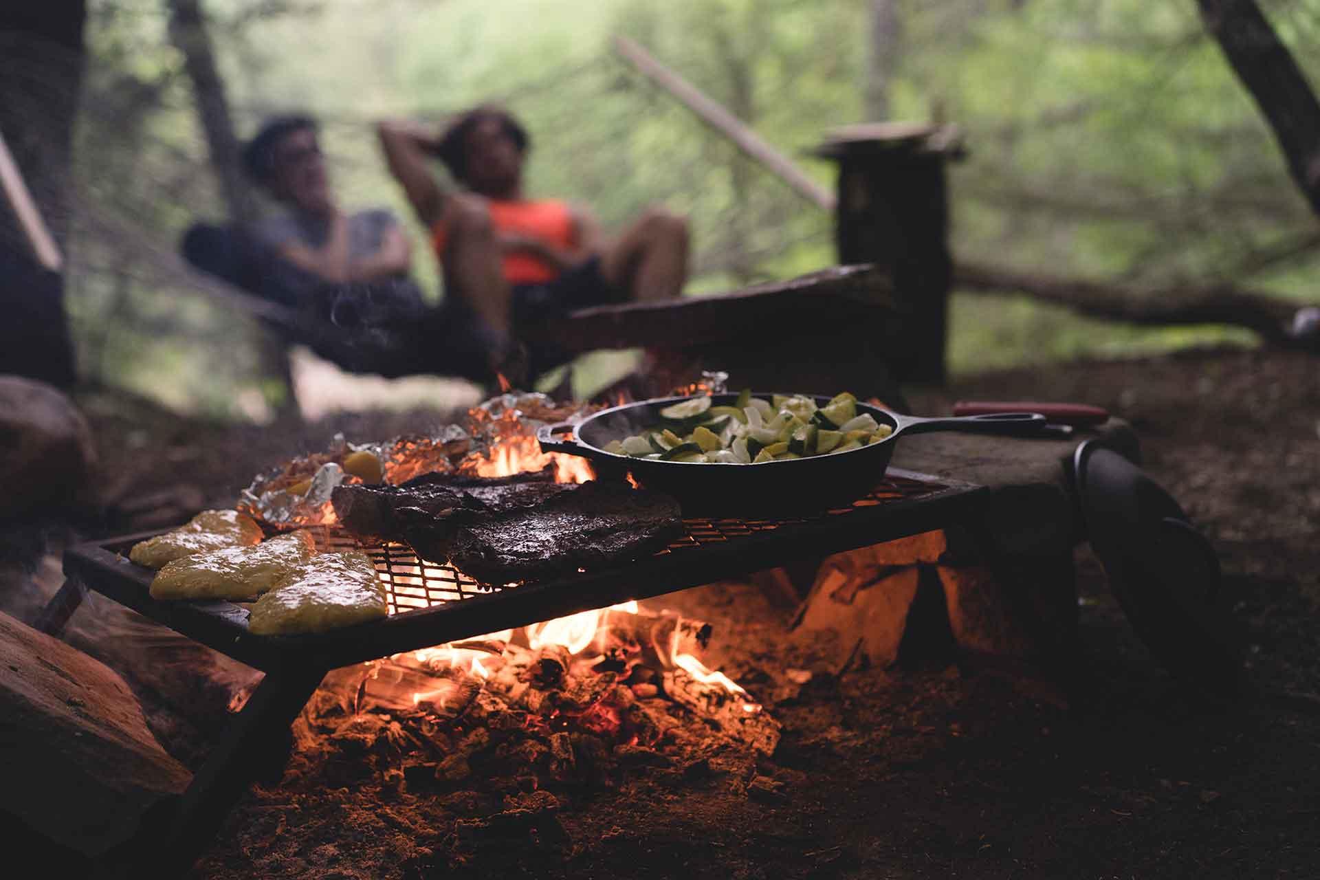 Comida acampar