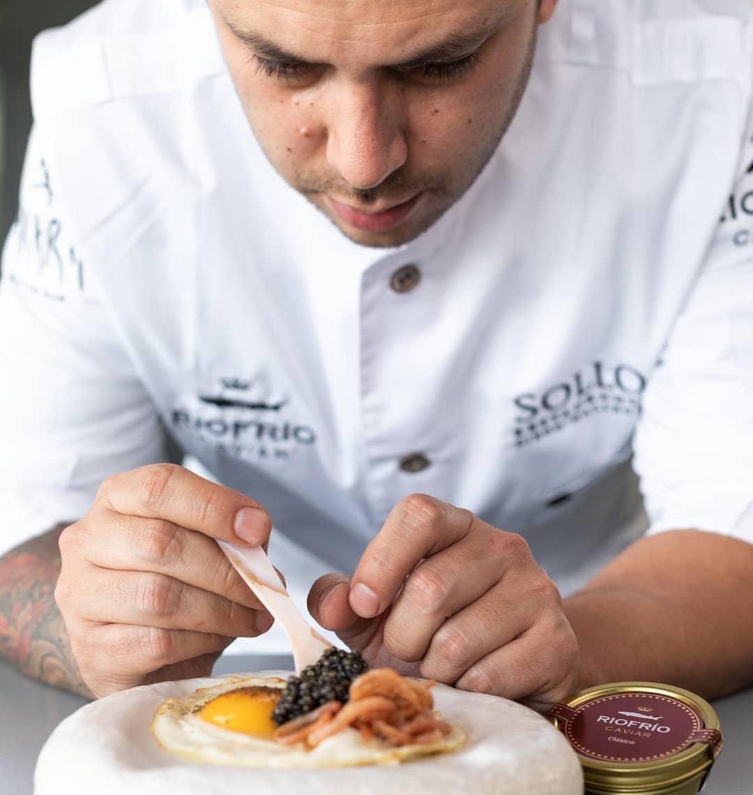 Caviar chef Diego Gallegos