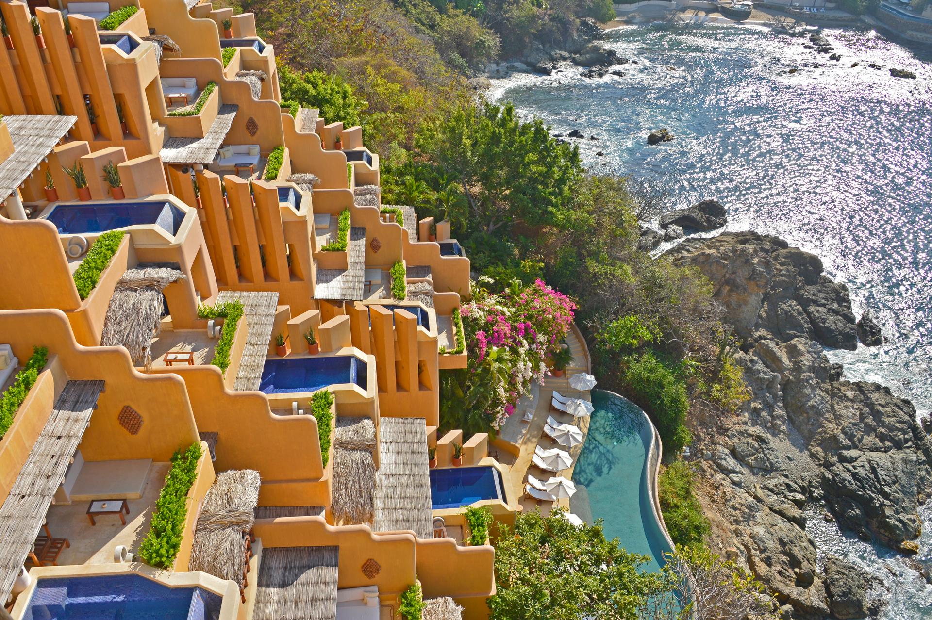 Vista del hotel Cala de Mar Ixtapa