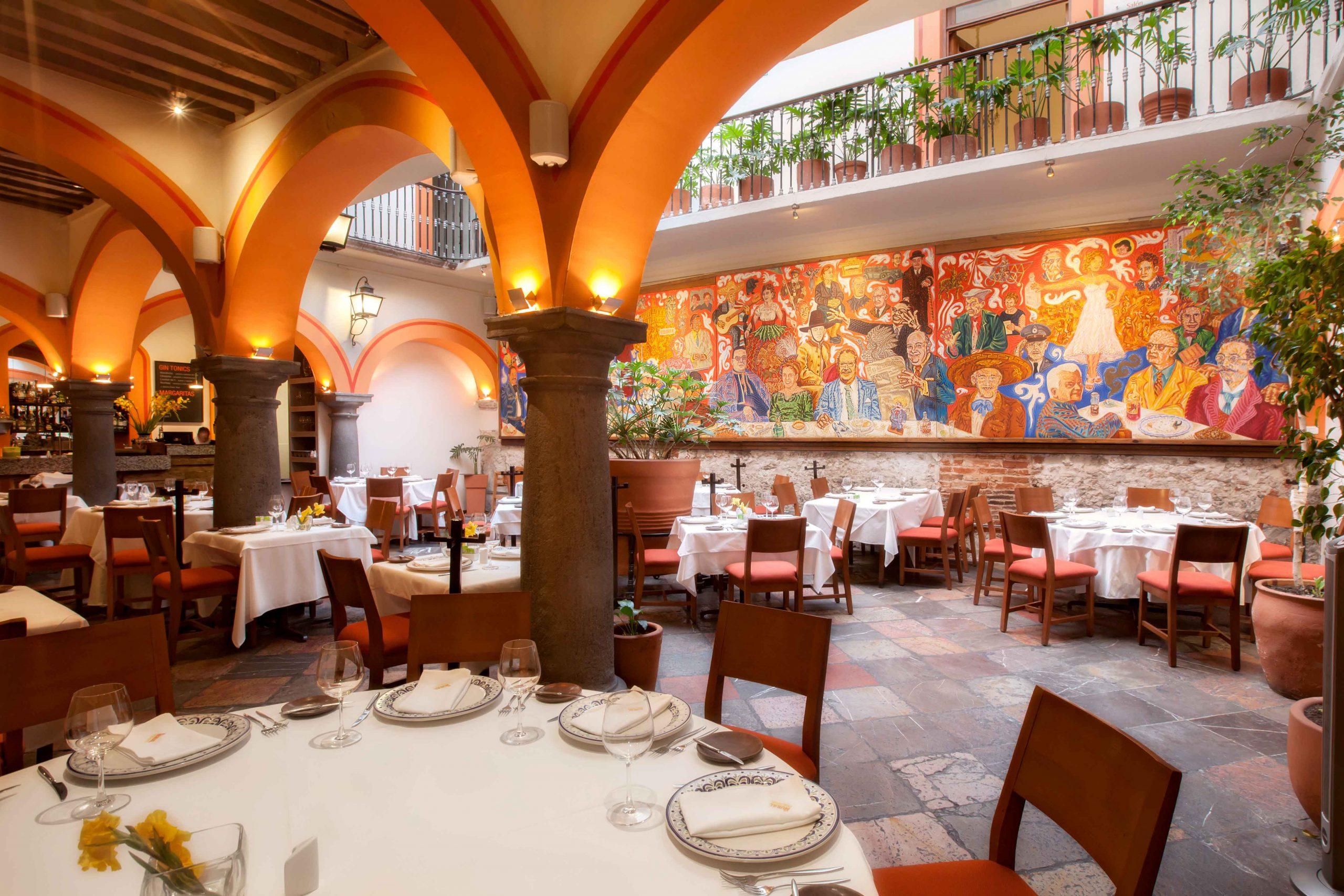 Restaurantes de Puebla - El mural de los poblanos