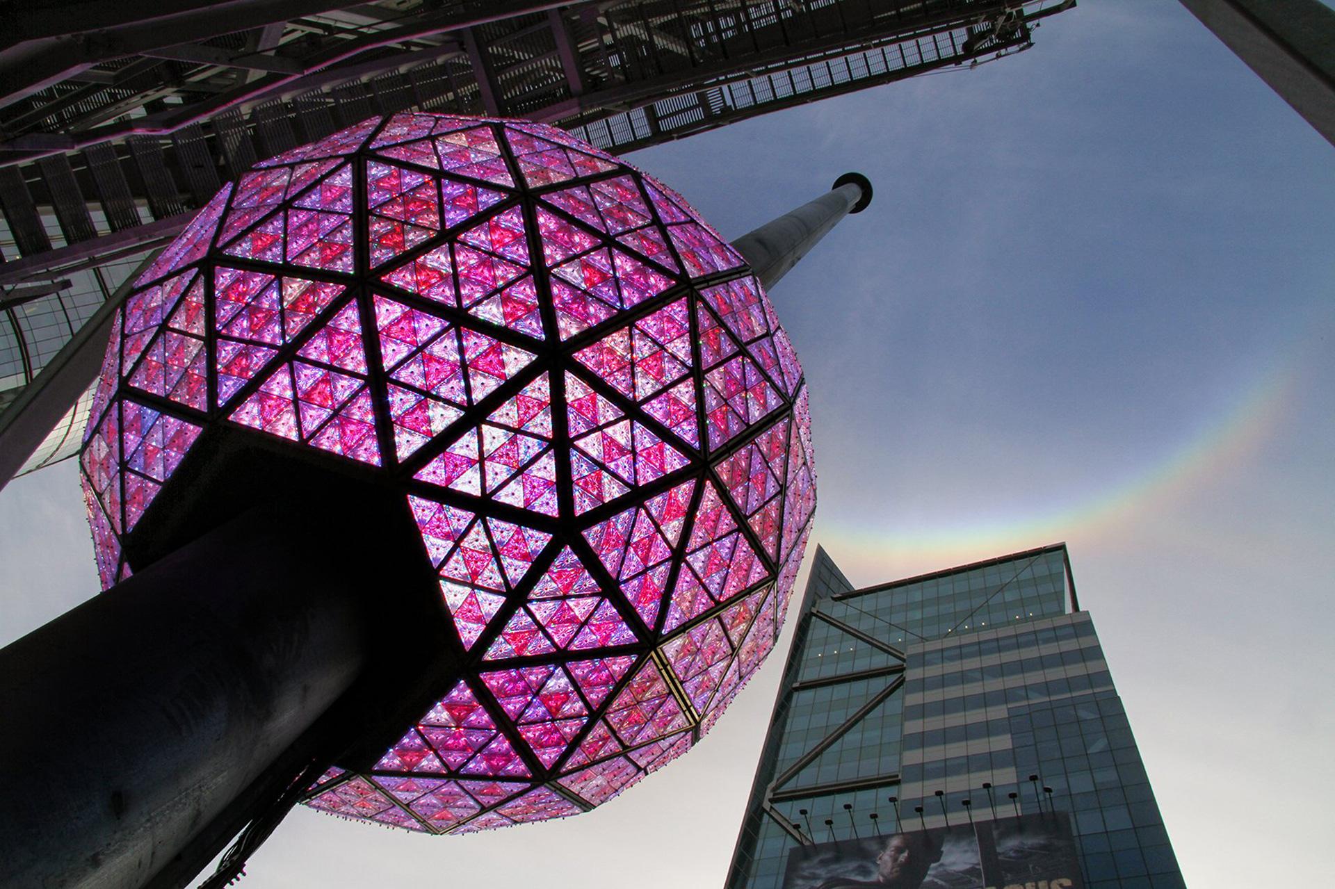 Evento virtual en Times Square