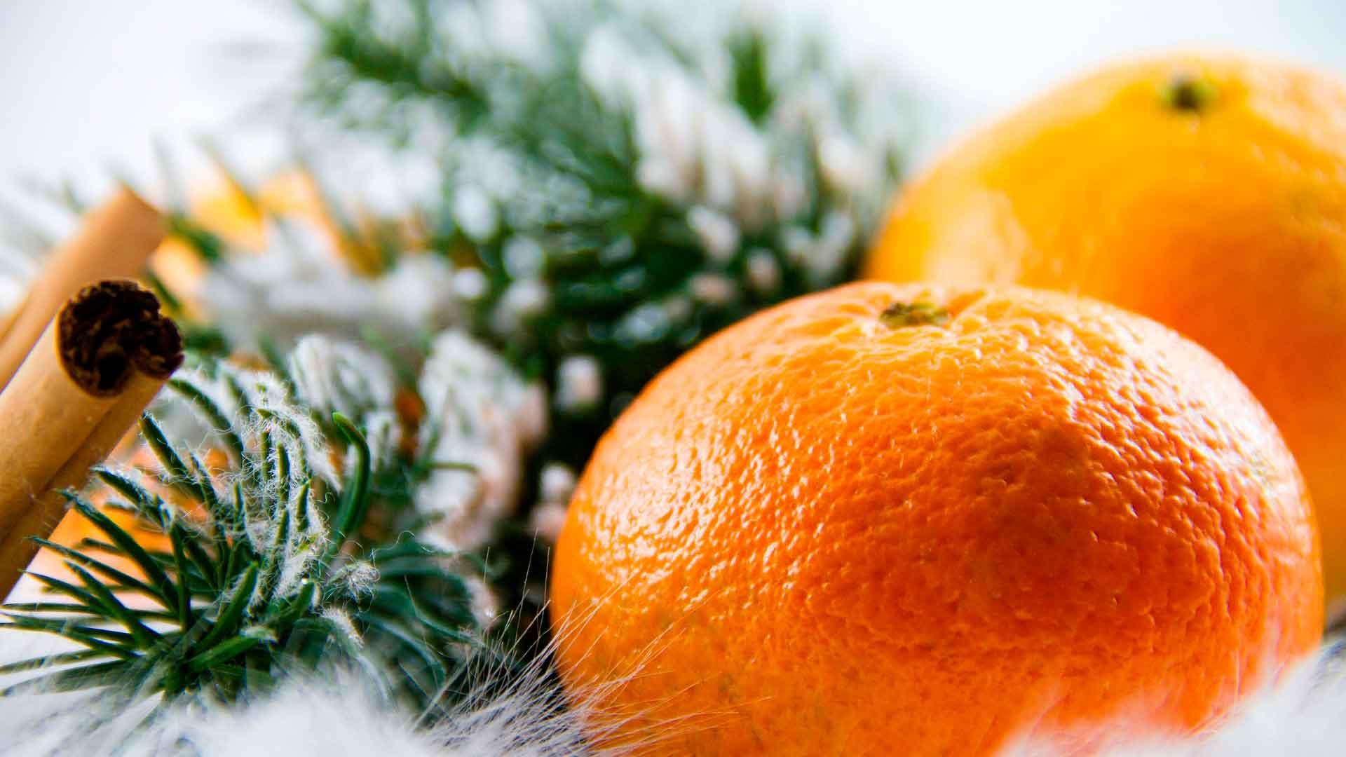 alimentos Año Nuevo mandarinas