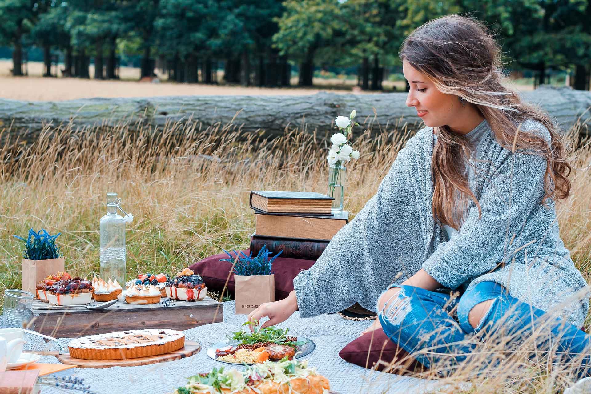 Comer al aire libre