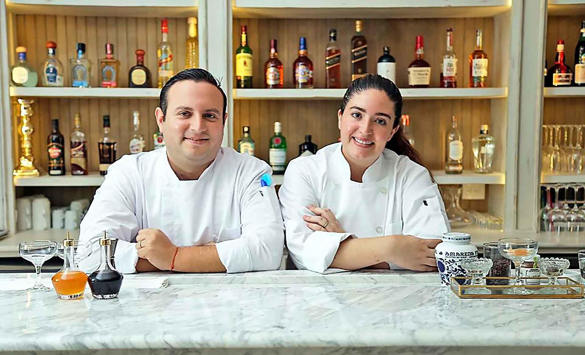 Parejas de chef Santiago y Macarena