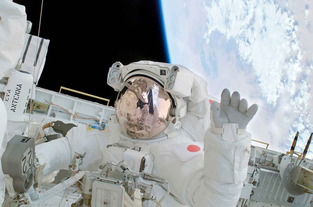 Viajes espaciales astronauta